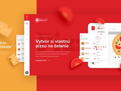 Slovak Pizza Creator user interface pizza website webdesign web simple landing homepage design lean onepage landing page