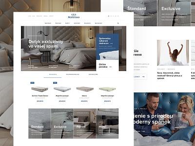 Redesign of Slovak Materasso mattress webdesign web ui  ux responsive landing page landing home clean