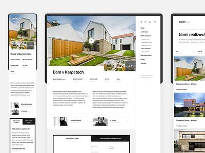 Dribbble Domyinak architecture landing interior webdesign web ux ui simple house home slovak clean