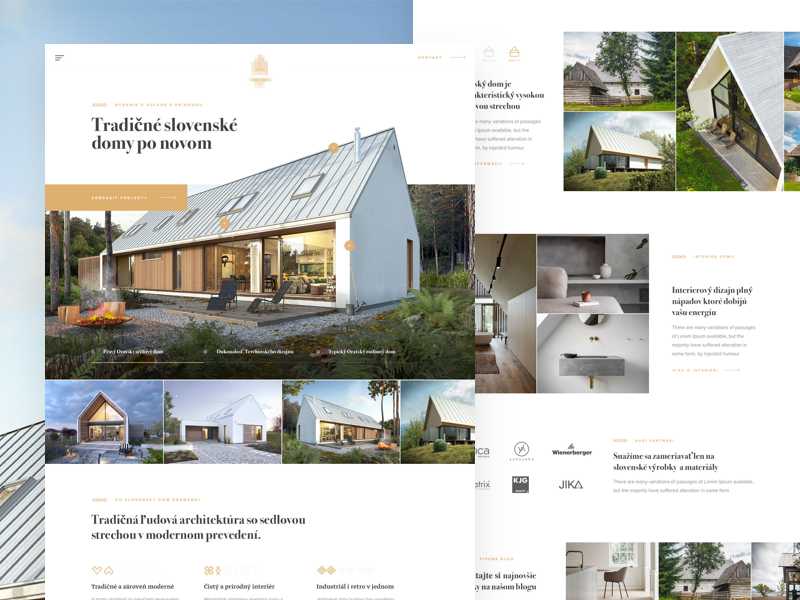Slovak House landing clean slovak home architecture house interior landing simple ui ux web webdesign