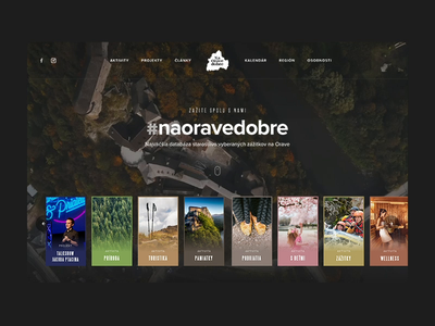 NaOraveDobre slider booking destination travel typography orava slovakia header clean ui ux homepage website webdesign landing web