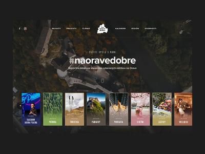 NaOraveDobre header redesign booking destination travel typography orava slovakia header clean ui ux homepage website webdesign landing web