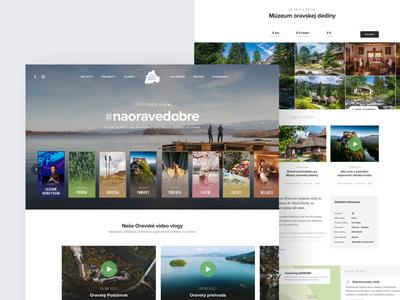 Na Orave Dobre travel booking orave slovakia minimal header design ux ui clean simple homepage responsive website webdesign landing web