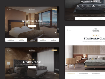 Materasso Hotels hotel design ecommerce interior collection hotel landing page clean minimal slovakia simple design header homepage website ux webdesign web ui