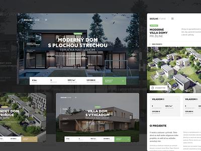 Idealne Byvanie interior ux webdesing typography house minimal slovakia simple header homepage responsive website webdesign landing clean ui web