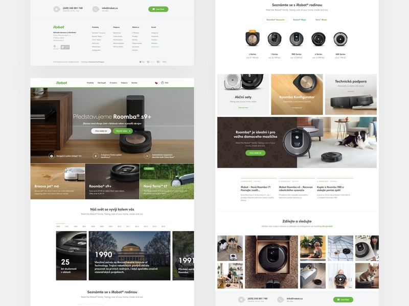 iRobot redesign vacuum ux ui ecommerce modern website design minimal design landing website homepage shop webdesign clean technology irobot web