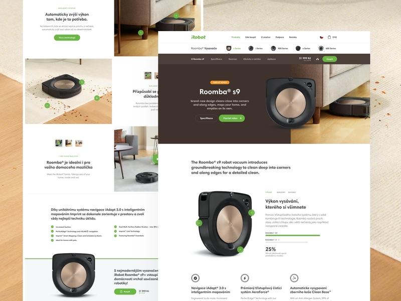 iRobor redesign - detail page website design vacuum shop modern minimal landing design ecommerce technology website ui ux homepage webdesign web clean irobot