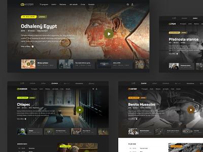 CS brand redesign video tv television movie slovakia minimal clean header homepage website ui ux webdesign web
