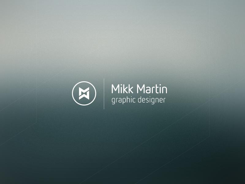 Mikk Martin personal identity design logo logotype mark identity intro personal branding symbol monogram