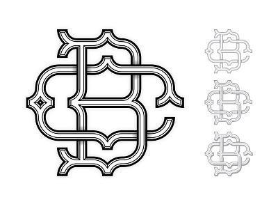 BC MONOGRAM vector illustrator typography monogram logo design logo