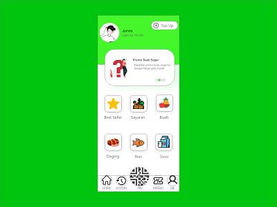 Vegetable and Fruit App app simple branding design ui