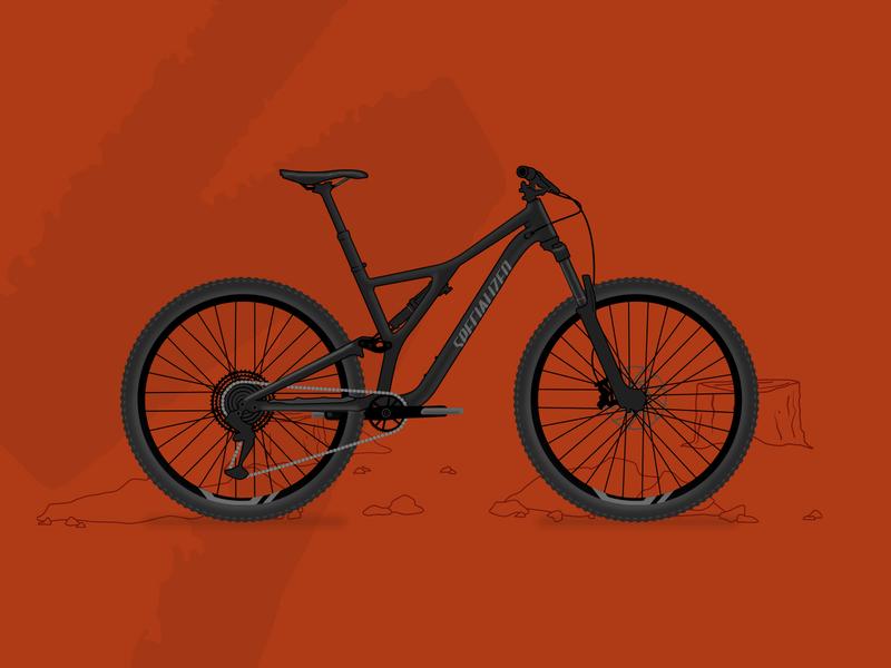 2020 Stumpjumper vector art vector full suspension mountain bike stumpjumper specialized illustration bicycle