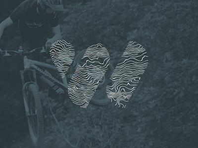 Walden's Ridge Identity - Topo Logo topography topo logo tennessee chattanooga park identity mountain bike mtb