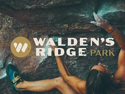 Walden's Ridge Identity - Logotype branding identity bouldering climbing mountain bike logotype logo design tennessee chattanooga park texture logo
