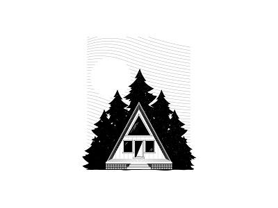 Cabin Ideas cabin art cabin vector illustration chattanooga identity texture