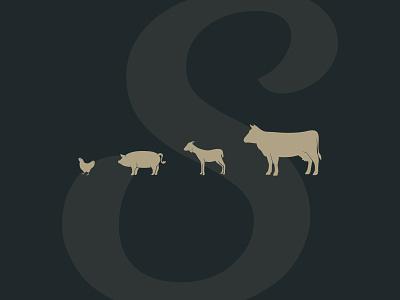 Stabler Farms farm animals farm logo farm vector branding illustration logo chattanooga identity texture