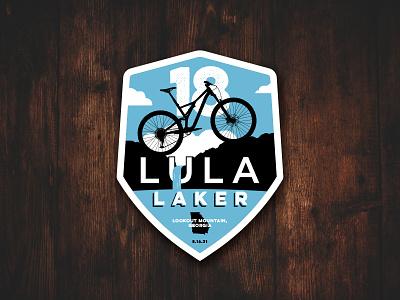 Lula Laker Race Badge waterfall race badge mtb mountain bike georgia lookout mountain lula lake