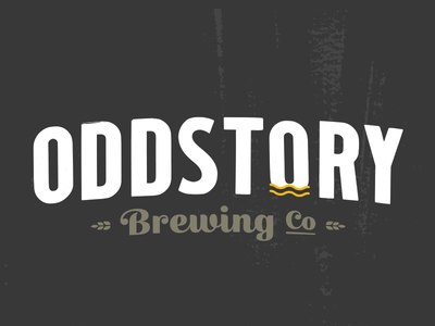 Oddstory Brewing Co. craft beer chattanooga yellow white grey grains beer identity logotype