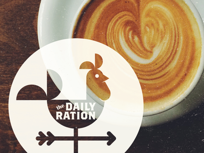 Daily Ration Roozter texture rooster identity coffee