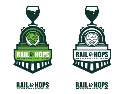 Brewer's Festival Logo train beer