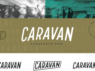 Caravan logotype hand made type custom letters identity