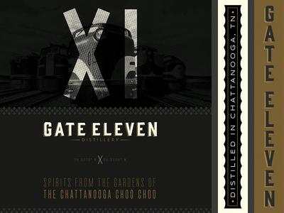 Gate 11 Distillery tennessee chattanooga distillery x branding identity logo