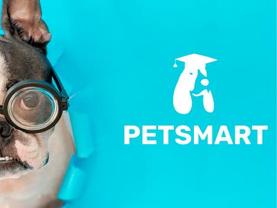 Logo redesign for PetSmart. shop vector brand design design branding logo zoo dog cat smart pet