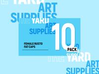 Female Rusto Fat Caps 10 Pack Label