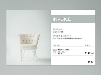 Invoice || 046 invoice template invoice design dailyui 046 web dailyui daily 100 challenge ux ui dailyuichallenge flat graphic design minimal