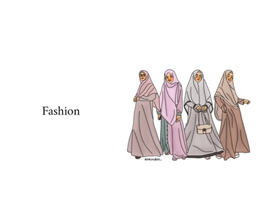 Hijab Fashion girl illustration girl character artwork design digital drawing illustration