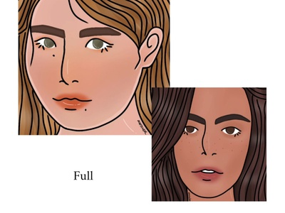 Full Face artwork digital drawing illustrator illustration girl illustration girl character