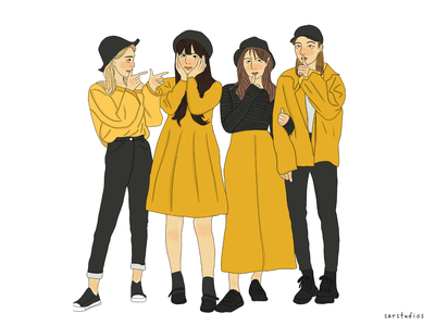 BFF fashion illustration design artwork girl illustration girl character illustrator digital drawing illustration
