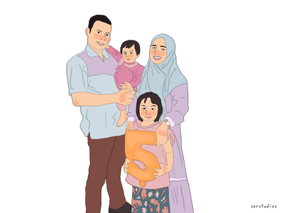 Family Portrait Commission family portrait artwork illustration digital drawing portrait illustration portrait
