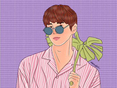 Kang Daniel Here!! xD illustrator portrait artwork illustration digital drawing character design kpop fanart