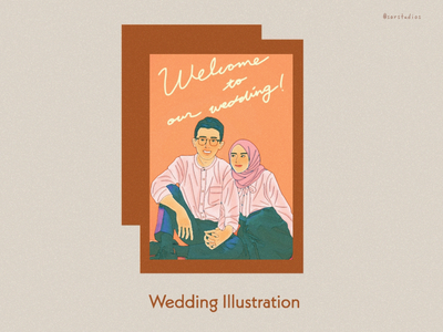 Wedding Illustrations artwork illustration digital drawing portrait design gift card wedding gift wedding card wedding invitation