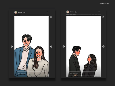 Korean Drama Fanart illustration digital drawing artwork instagram banner instagram stories fanart