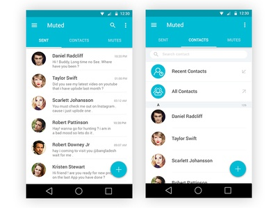 """ Muted "" Chat Messenger coming live soon material design flat design minimal design chat messenger muted"