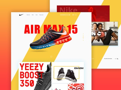 Nike - Website Redesign Concept awesome design material design flat design nike redesign website redesign concept design redesign nike web design