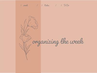organizing the week typography week organizing the week calendar the week stickerspub calendar design design organizing