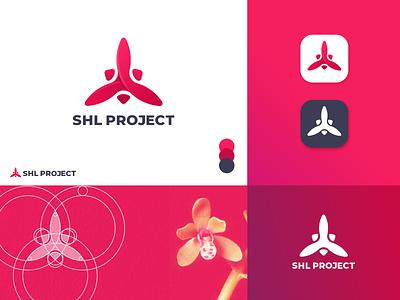 SHL Project Logo Design blogger app design minimalist design minimalist logo golden ratio logo hartinah orchids red logos brand identity icon logo identity branding identity design branding logo design