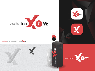 Official Logo New Baleo X One simple logo design simple logo red logo x logo crystal product logo negative space logo logo design brand identity icon minimal logo identity branding identity design branding