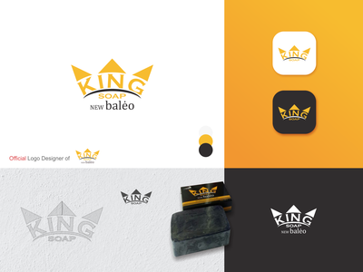 Official Logo New Baleo King Soap official website official logo indonesia designer king logo indonesia yellow logo negative space logo logo design brand identity icon minimal logo identity branding identity design branding