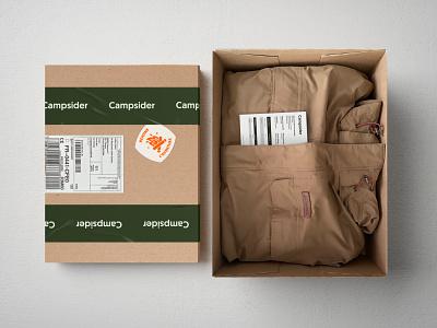 Campsider - Outdoor equipment stickers cardbox craftbox shop illustration design branding