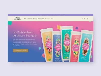 Maison Bourgeon - Homepage tea layout content illustration web website ux design branding coffe coffee ui
