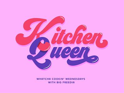 Big Freedia Whatcha' Cooking logotype logo design queen kitchenware kitchen logo logo bounce music music art louisiana new orleans digital painting illustration