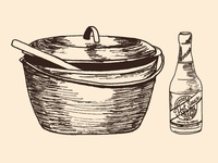 Gumbo Pot and Hot Sauce