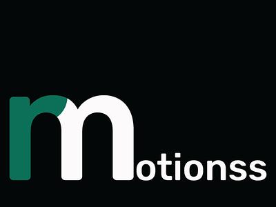 r-motionss typography minimal flat branding logo design vector illustrator illustration adobe illustrator