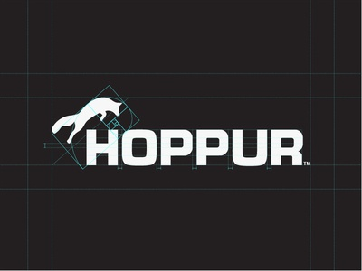 Hoppur - Agricultural Machinery (Logotype) reliable fox identity golden ratio branding manufacturer construction equipment industrial tractors farming agriculture