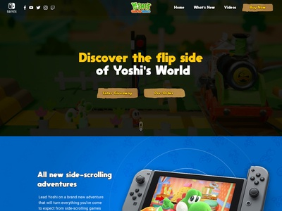 Yoshi's Crafted World Promo Website