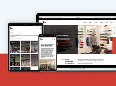 Nationwide Fixture Installations | Website Design